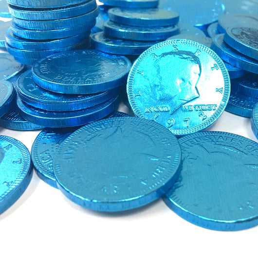 FORT KNOX CHOCOLATE COINS in CARIBBEAN BLUE from Miami Candies Sweets & Snacks