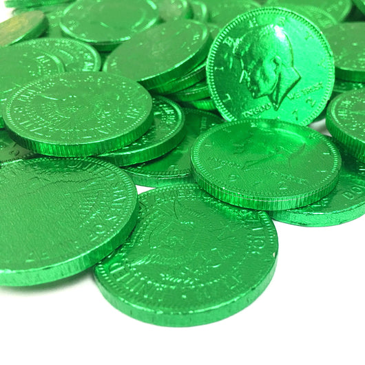 FORT KNOX CHOCOLATE COINS in GREEN from Miami Candies Sweets & Snacks