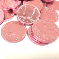 FORT KNOX CHOCOLATE COINS in LIGHT PINK from Miami Candies Sweets & Snacks