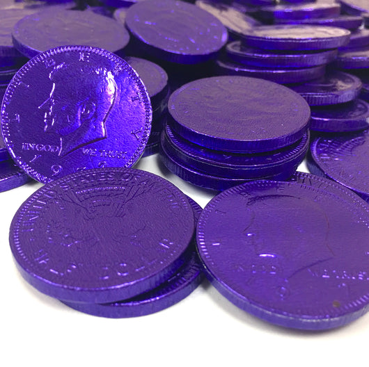 FORT KNOX CHOCOLATE COINS in PURPLE from Miami Candies Sweets & Snacks