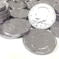 FORT KNOX CHOCOLATE COINS in SILVER from Miami Candies Sweets & Snacks