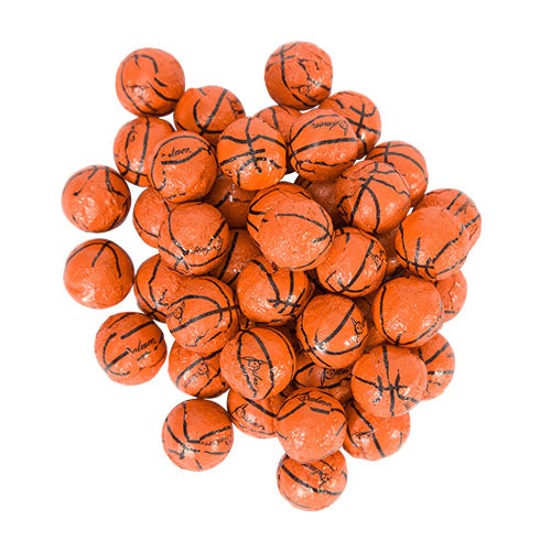 FOILED CHOCOLATE BASKETBALLS