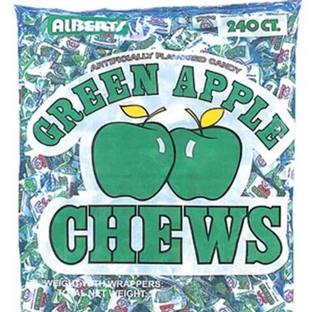 GREEN APPLE CHEWS<br>(240 Count)