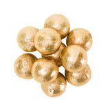 CARAMEL FILLED FOILED MILK CHOCOLATE BALLS - GOLD