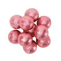 CARAMEL FILLED FOILED MILK CHOCOLATE BALLS - LIGHT PINK