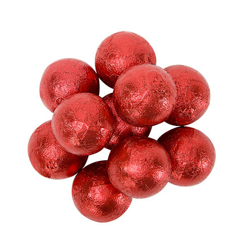 CARAMEL FILLED FOILED MILK CHOCOLATE BALLS - RED