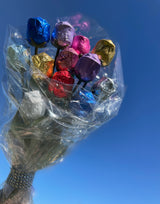 FOILED MILK CHOCOLATE ROSES - VALENTINE'S DOZEN BOUQUET BOGO FREE