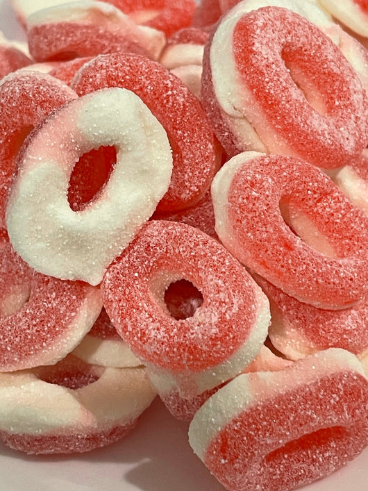 GUMMY RINGS PINK STRAWBERRY 2.2LB