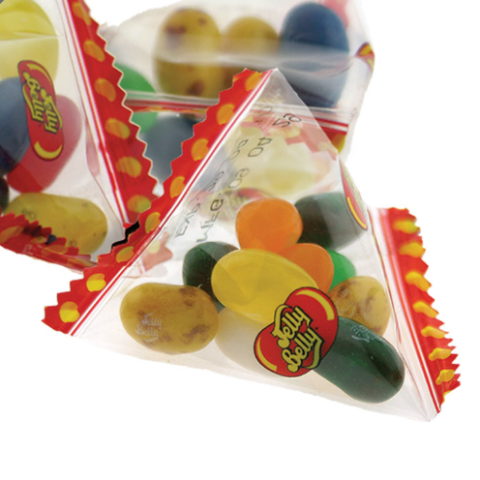ASSORTED JELLY BEAN FLAVORS PYRAMID BAGS