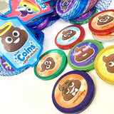 FOILED MILK CHOCOLATE COINS + POOP STICKERS