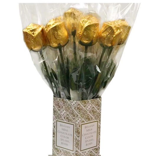 FOILED MILK CHOCOLATE ROSE<br>GOLD