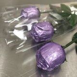 FOILED MILK CHOCOLATE ROSE<br>LAVENDER