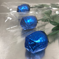 FOILED MILK CHOCOLATE ROSE<br>ROYAL BLUE