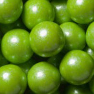 LIME GREEN GUMBALLS w/SHIMMER 2 LBS from Miami Candies Sweets & Snacks