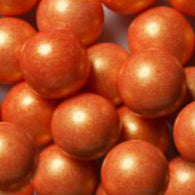 ORANGE GUMBALLS w/SHIMMER 2 LBS from Miami Candies Sweets & Snacks