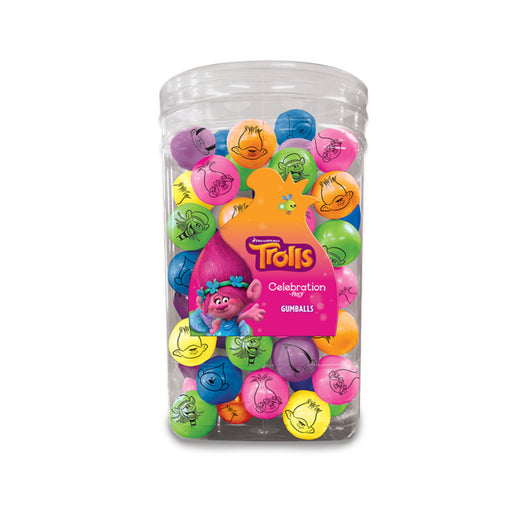 TROLLS MOVIE GUMBALLS 34 ounce tub from Miami Candies Sweets & Snacks