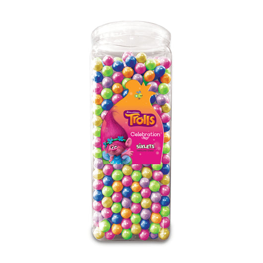 TROLLS MOVIE SIXLETS 30 ounce tub from Miami Candies Sweets & Snacks