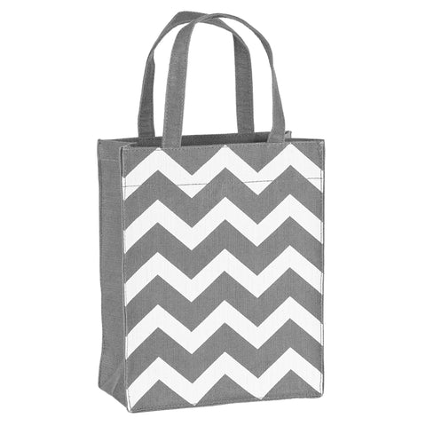 Grey & White Chevron Fabric, Reusable Gift Bag
