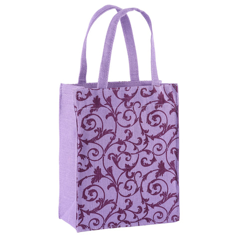 Violet Floral Fabric, Reusable Gift Bag