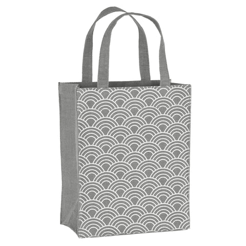 Grey Scales Fabric Reusable Gift Bag by Illumen