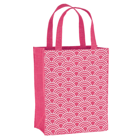 Magenta Scales Fabric Reusable Gift Bag by Illumen