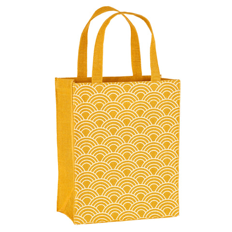 Gold Scales Fabric Reusable Gift Bag by Illumen
