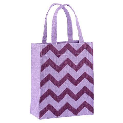 Violet & Lilac Chevron Fabric, Reusable Gift Bag