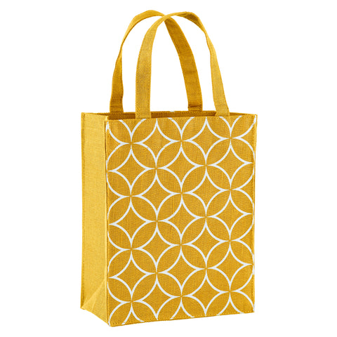 Gold Art Deco Fabric Reusable Gift Bag by Illumen