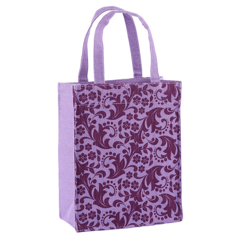 Violet Paisley Fabric Reusable Gift Bag by Illumen