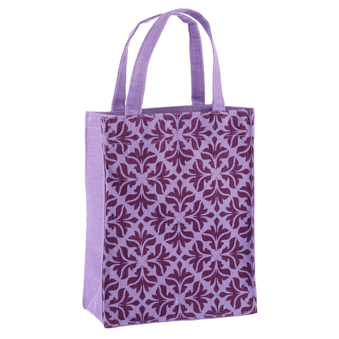 Violet Baroque Fabric Reusable Gift Bag by Illumen