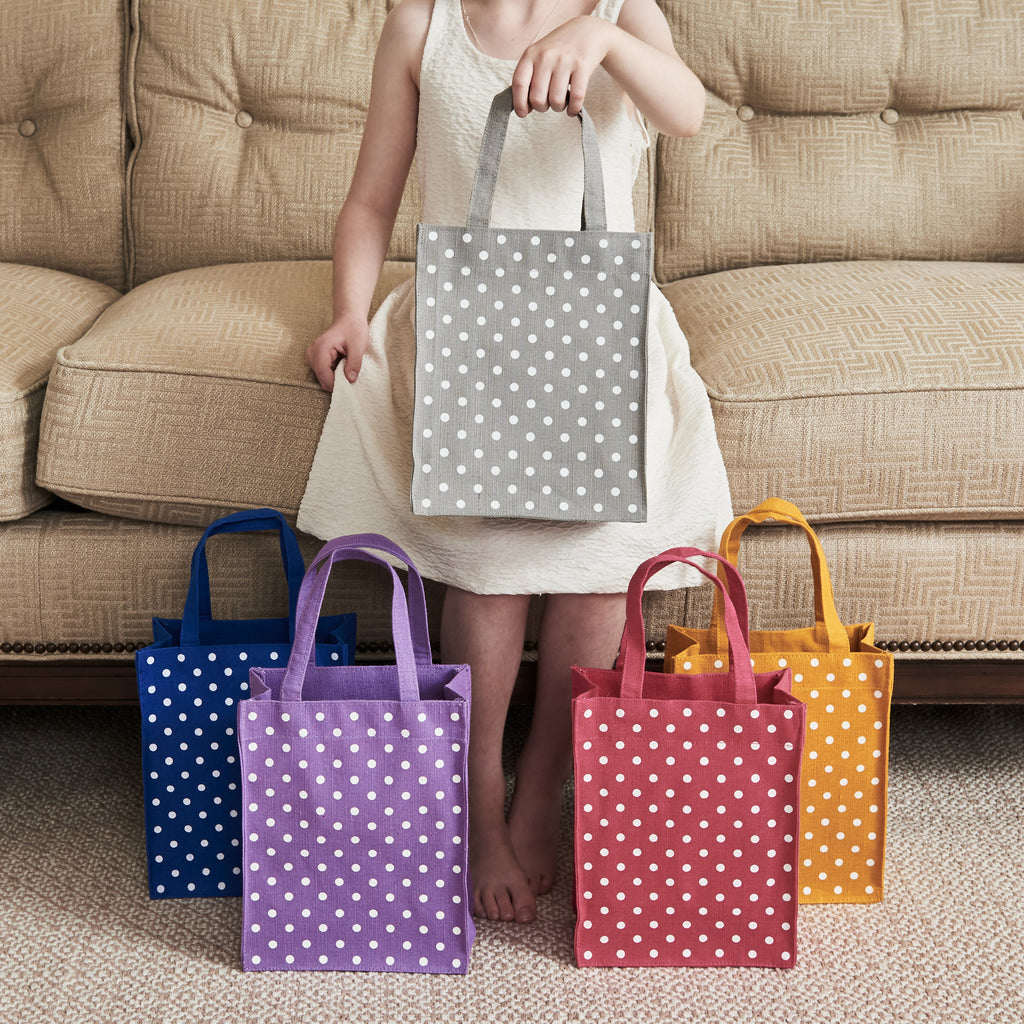 Polka Dots Patterns Fabric Reusable Gift Bags by Illumen