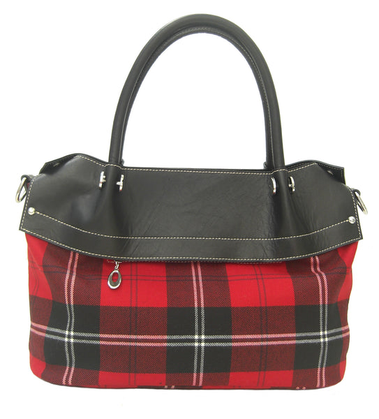 Ramsay Red Tartan Handbag Alberta - Chantam - Beautifully designed Tartan and Harris Tweed handbags and accessories
