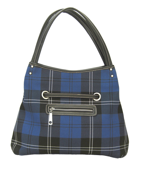 Ramsay Blue Tartan Handbag Beatrice - Chantam - Beautifully designed Tartan and Harris Tweed handbags and accessories