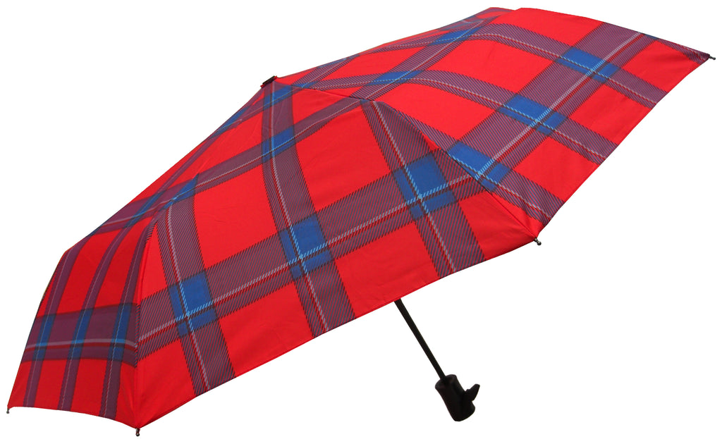 Welsh Harris Tartan print Umbrella made with Pongee Fabric - Chantam - Beautifully designed Tartan and Harris Tweed handbags and accessories