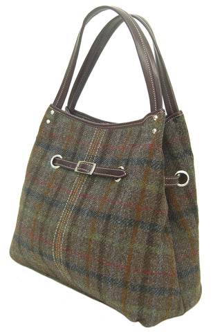 Harris Tweed Brown Handbag Beatrice - Chantam - Beautifully designed Tartan and Harris Tweed handbags and accessories