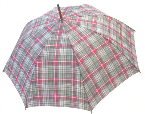 Pink and Green Chantam Tartan Umbrella - Chantam - Beautifully designed Tartan and Harris Tweed handbags and accessories