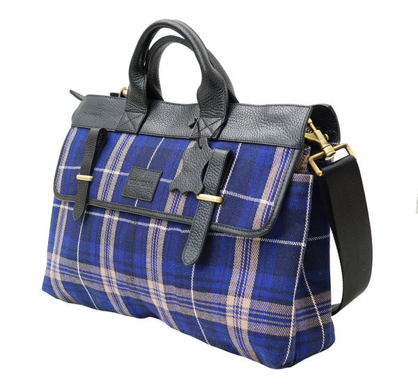 Mens Welsh Edward Tartan Handbag - Chantam - Beautifully designed Tartan and Harris Tweed handbags and accessories