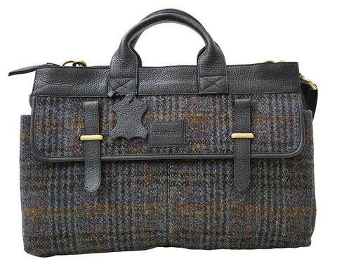 Harris Tweed Mens Handbag (HT05) - Chantam - Beautifully designed Tartan and Harris Tweed handbags and accessories