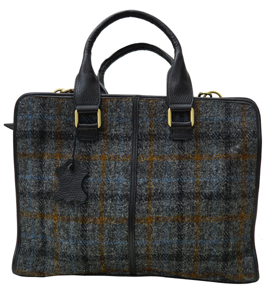 Harris Tweed Mens Handbag HT05 - Chantam - Beautifully designed Tartan and Harris Tweed handbags and accessories