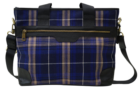 Mens Tartan handbag Welsh Edward - Chantam - Beautifully designed Tartan and Harris Tweed handbags and accessories
