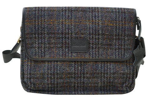 Harris Tweed Cross Over Mens Handbag HT05 - Chantam - Beautifully designed Tartan and Harris Tweed handbags and accessories