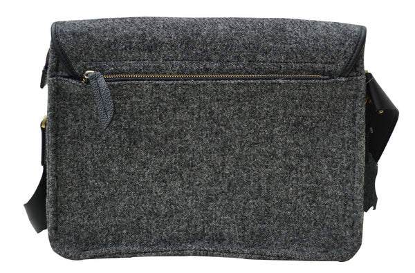 Harris Tweed Mens Handbag Crossover Grey - Chantam - Beautifully designed Tartan and Harris Tweed handbags and accessories