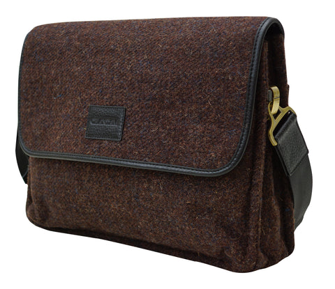 Harris Tweed Mens Handbag Crossover - Chantam - Beautifully designed Tartan and Harris Tweed handbags and accessories