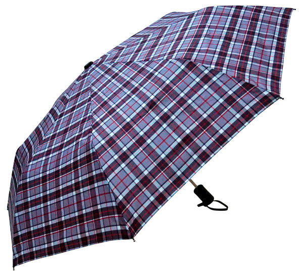 Thompson Grey Tartan Umbrella - Chantam - Beautifully designed Tartan and Harris Tweed handbags and accessories