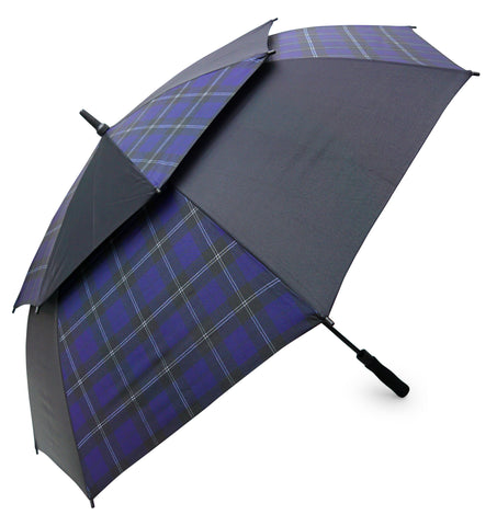 Blue Ramsay Tartan Umbrella Stormshield - Chantam - Beautifully designed Tartan and Harris Tweed handbags and accessories