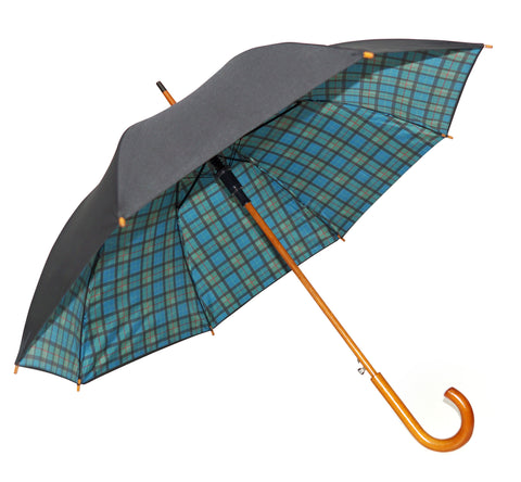 Tartan Umbrella Black Watch Double Canopy - Chantam - Beautifully designed Tartan and Harris Tweed handbags and accessories