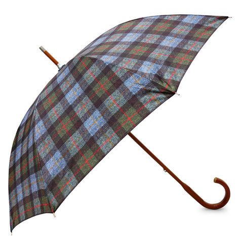 Mcleod HT Umbrella with Elm wood handle - Chantam - Beautifully designed Tartan and Harris Tweed handbags and accessories