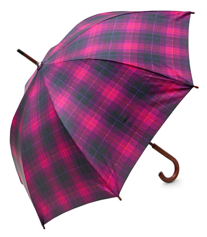 HT Fuchsia Umbrella - Chantam - Beautifully designed Tartan and Harris Tweed handbags and accessories