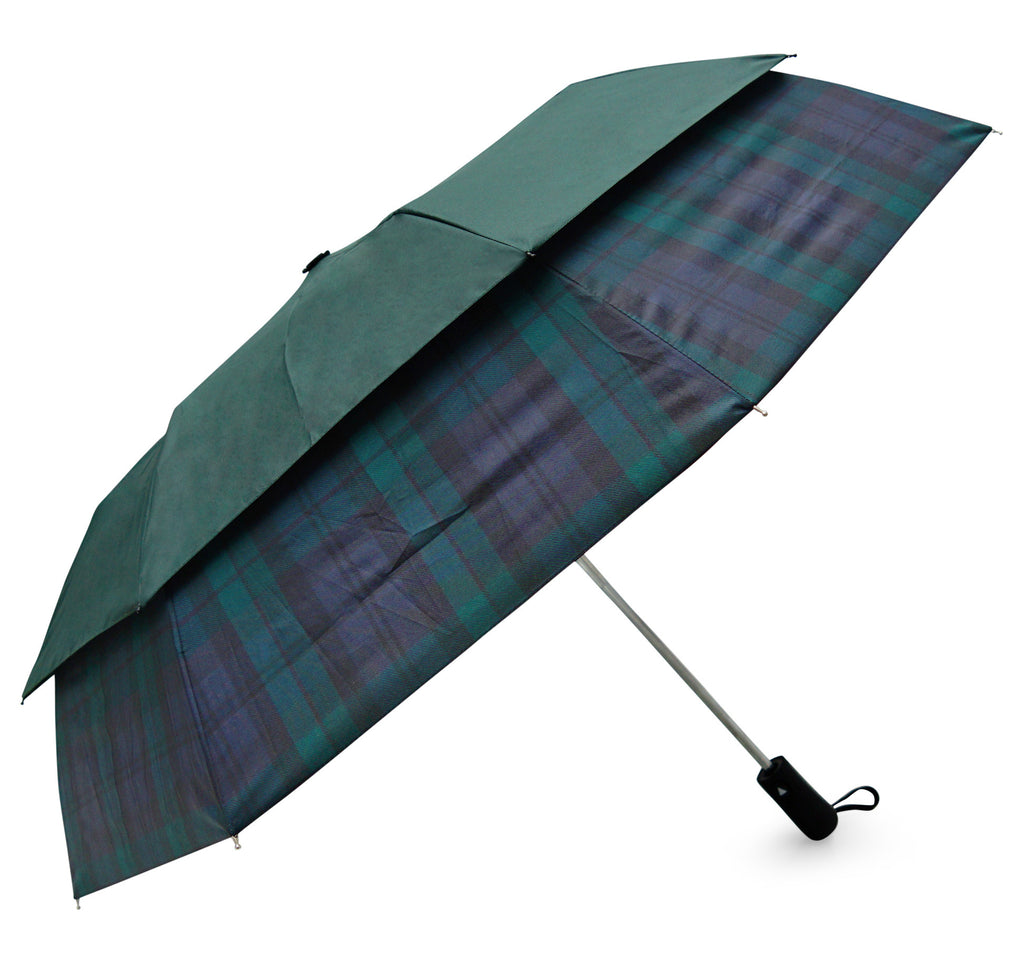 Black Watch Tartan Stormshield Umbrella - Chantam - Beautifully designed Tartan and Harris Tweed handbags and accessories