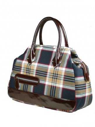 Prince of Wales Tartan Handbag Emily - Chantam - Beautifully designed Tartan and Harris Tweed handbags and accessories